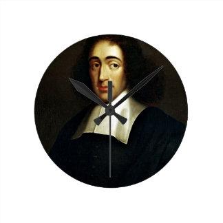 Baruch Spinoza Round Clock
