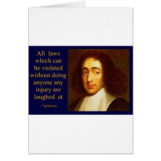 Baruch Spinoza Tarjeta De Felicitación