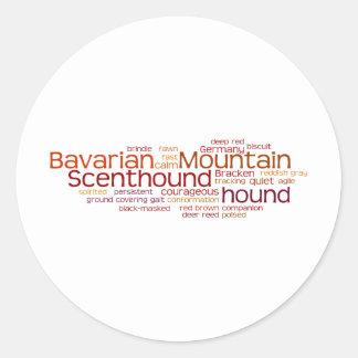 Barvarian Mountain Scenthound Classic Round Sticker