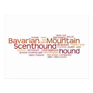 Barvarian Mountain Scenthound Postcard