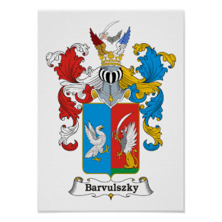"""Barvulszky Family Hungarian Coat of Arms 11x15"""" Pr Poster"""