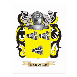 Barwick Coat of Arms (Family Crest) Postcard