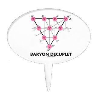 Baryon Decuplet (la física de partícula) Decoración De Tarta