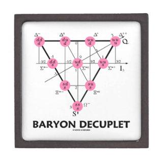 Baryon Decuplet (la física de partícula) Caja De Regalo De Calidad