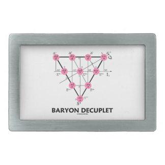 Baryon Decuplet (la física de partícula) Hebillas De Cinturon Rectangulares