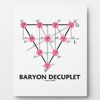 Baryon Decuplet (la física de partícula) Placa De Madera