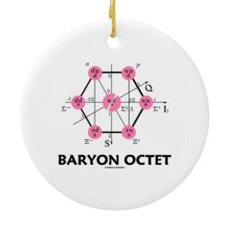 Baryon Octet (Particle Physics) Christmas Tree Ornaments
