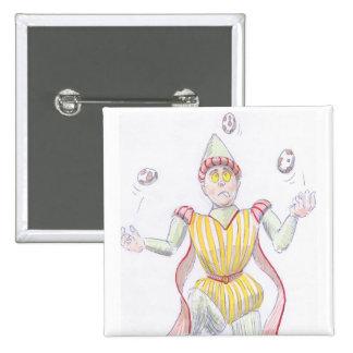 Baryon Quark Cartoon Medieval Baron Juggling Pinback Button