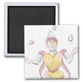 Baryon Quark Cartoon Medieval Baron Juggling Fridge Magnet