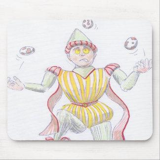 Baryon Quark Cartoon Medieval Baron Juggling Mouse Pads