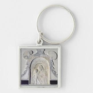 Bas-alivio de Madonna y de un niño (mármol) Llaveros Personalizados