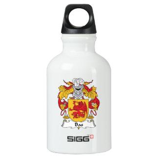 Bas Family Crest Aluminum Water Bottle