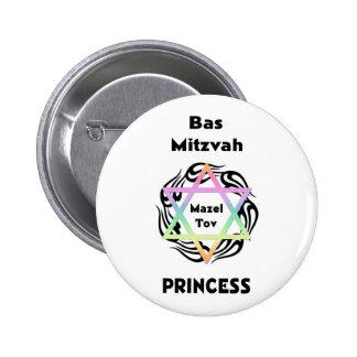 Bas Mitzvah Princess 2 Inch Round Button
