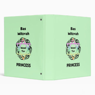 Bas Mitzvah Princess 3 Ring Binder