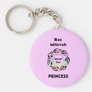 Bas Mitzvah Princess Basic Round Button Keychain