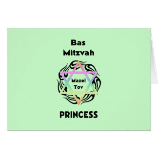 Bas Mitzvah Princess Card