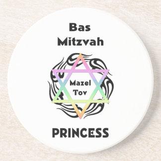 Bas Mitzvah Princess Drink Coasters