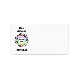Bas Mitzvah Princess Label