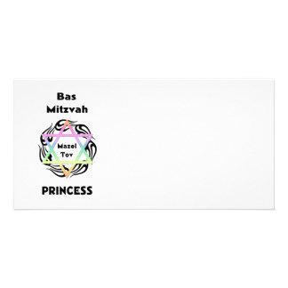 Bas Mitzvah Princess Photo Card