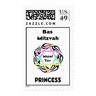 Bas Mitzvah Princess Postage Stamps