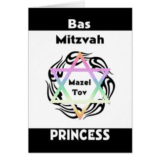 Bas Mitzvah Princess Stationery Note Card