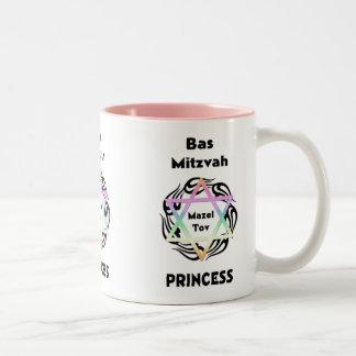 Bas Mitzvah Princess Two-Tone Coffee Mug