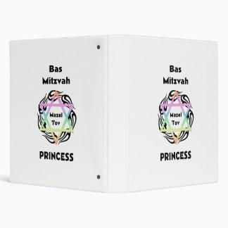 Bas Mitzvah Princess Vinyl Binder