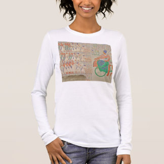 Bas-relief at Medynet-Abou, Palace of the Kings at Long Sleeve T-Shirt