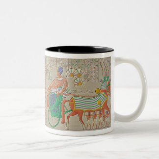 Bas-relief at Medynet-Abou, Palace of the Kings at Two-Tone Coffee Mug