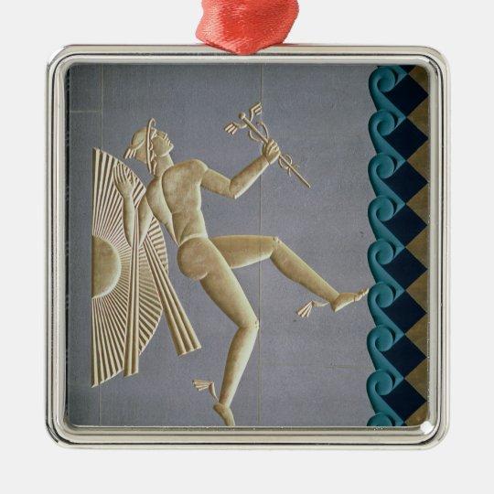 Bas-relief depicting Mercury Metal Ornament