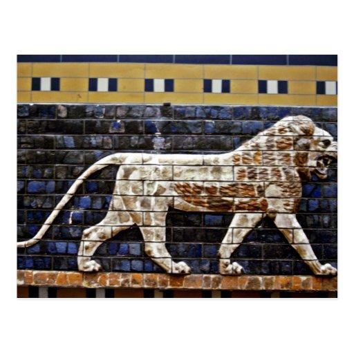 Bas Relief, Ishtar Lion Gate - Istanbul Postcard