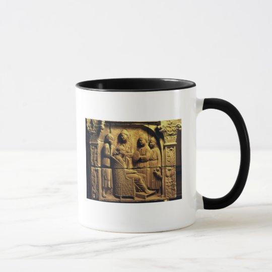 Bas relief of a hairdresser, Roman Mug