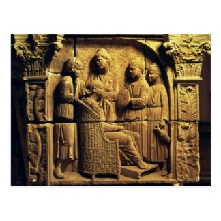 Bas relief of a hairdresser, Roman Postcard