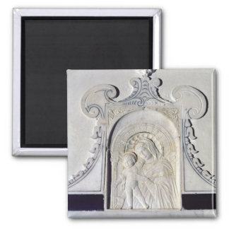 Bas-relief of a Madonna and Child (marble) Magnet