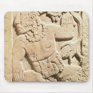 Bas relief of a warrior mouse pad