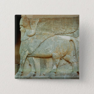 Bas-relief of an anthropomorphic bull button