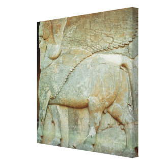 Bas-relief of an anthropomorphic bull gallery wrapped canvas