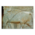Bas-relief of an anthropomorphic bull greeting cards