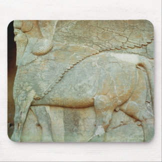 Bas-relief of an anthropomorphic bull mouse pad