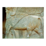 Bas-relief of an anthropomorphic bull post cards