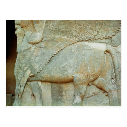 Bas-relief of an anthropomorphic bull postcard