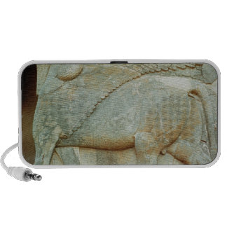 Bas-relief of an anthropomorphic bull iPhone speaker