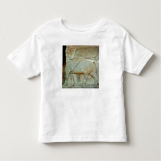 Bas-relief of an anthropomorphic bull t-shirts