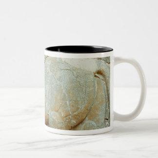 Bas-relief of an anthropomorphic bull Two-Tone coffee mug