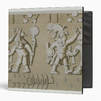 Bas Relief of Ancient Aztec Warriors, from The Sto 3 Ring Binder