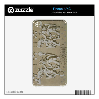 Bas Relief of Ancient Aztec Warriors, from The Sto Decals For iPhone 4S