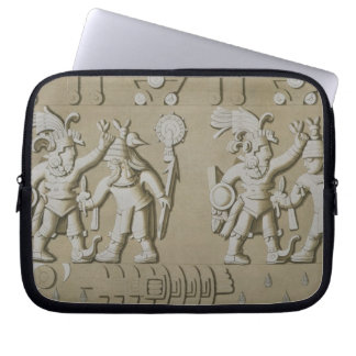 Bas Relief of Ancient Aztec Warriors, from The Sto Laptop Sleeve