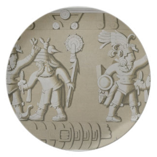 Bas Relief of Ancient Aztec Warriors, from The Sto Melamine Plate