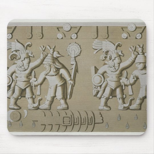 Bas Relief of Ancient Aztec Warriors, from The Sto Mouse Pad