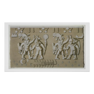 Bas Relief of Ancient Aztec Warriors, from The Sto Print